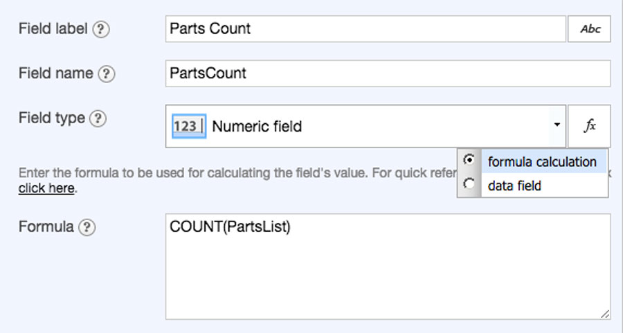 Flowfinity - Calculate totals and counts on a form